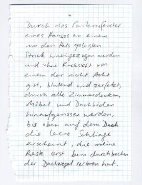text from Kafka's diaries